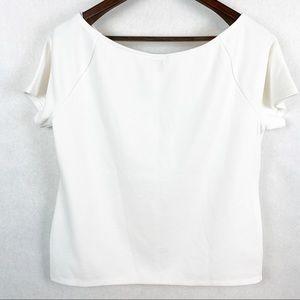 Ann Taylor Factory Short Sleeve Pullover Blouse XL